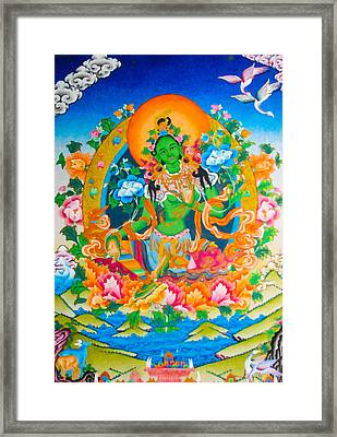 Green Tara 12 Framed Print by Lanjee Chee