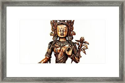 Green Tara Framed Print by Tim Gainey
