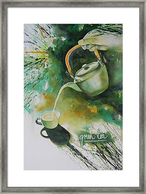 Green Tea Framed Print by Adel Nemeth