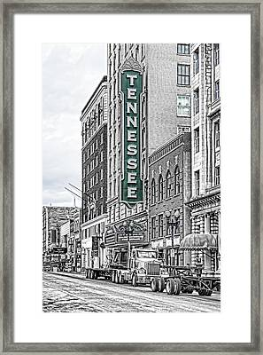 Green Tennessee Theatre Marquee Framed Print