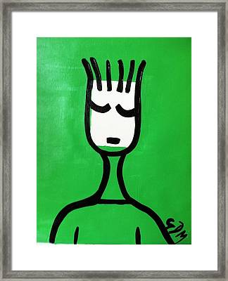 Green Thoughts Framed Print by Gdm