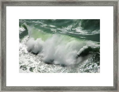 Green Thunder Framed Print by Donna Blackhall