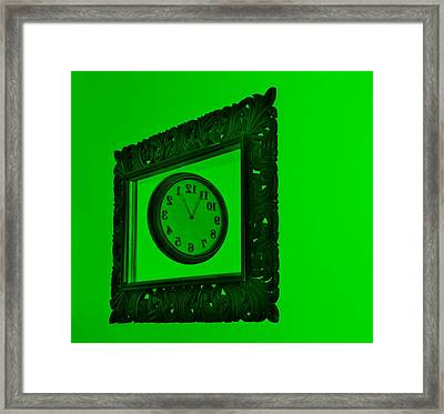 Green Time Frame Framed Print by Rob Hans