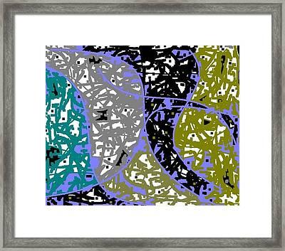 Green To Blue Framed Print