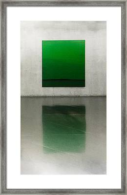 Green Framed Print by Toni Guerra