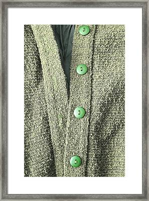 Green Top Framed Print by Tom Gowanlock