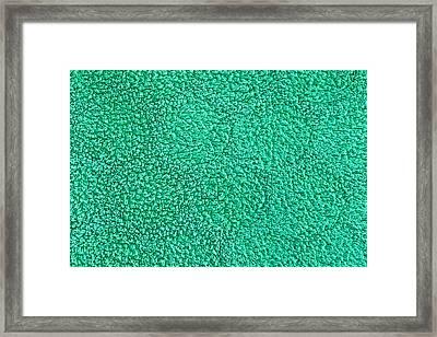 Green Towel Framed Print by Tom Gowanlock