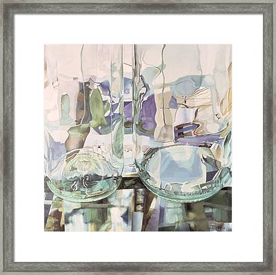 Green Transparency Transparence Verte 1981 Oil On Canvas Framed Print by Jeremy Annett