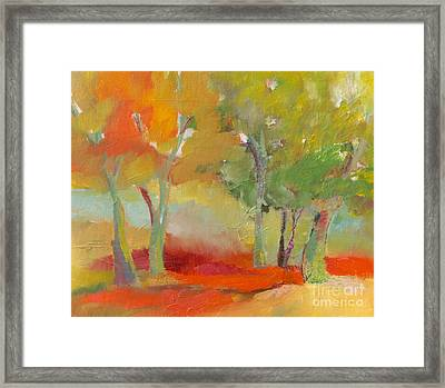 Green Trees Framed Print by Michelle Abrams