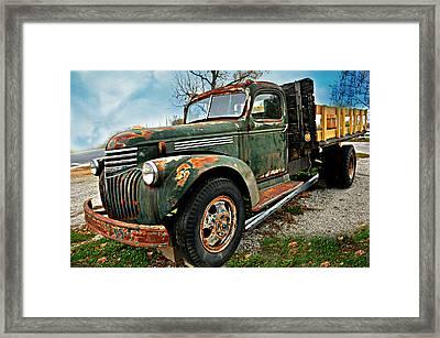 Green Truck Framed Print
