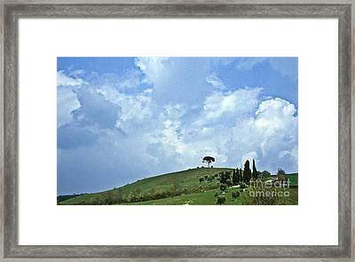 Green Tuscan Hills Framed Print by Heiko Koehrer-Wagner