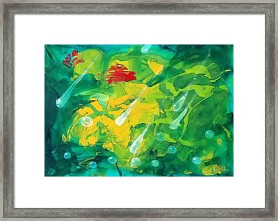 Green Two Framed Print