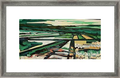 Green Valley Views Framed Print by Catherine Jones Davies