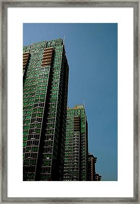 Green Vancouver Towers Framed Print