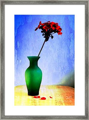 Green Vase 2 Framed Print by Donald Davis