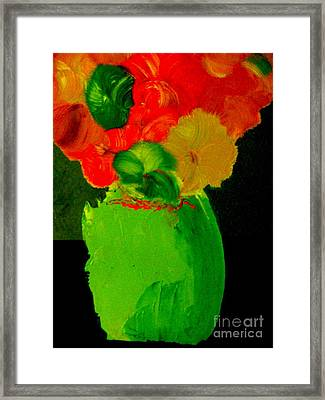 Framed Print featuring the painting Green Vase 22 by Bill OConnor
