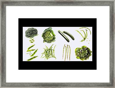 Green Vegetables Framed Print