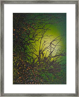 Green Vibes Framed Print by Emma Childs