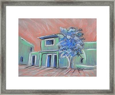 Green Village Framed Print by Marcia Meade