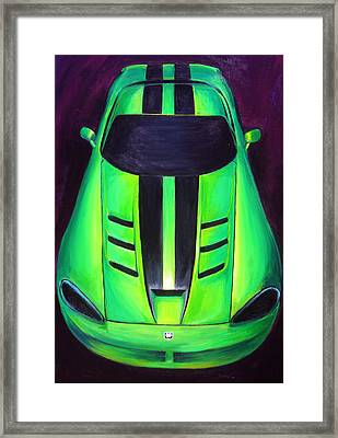 Green Viper Framed Print