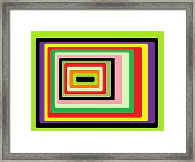 Green Vortex Framed Print