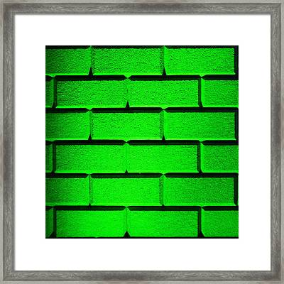 Green Wall Framed Print