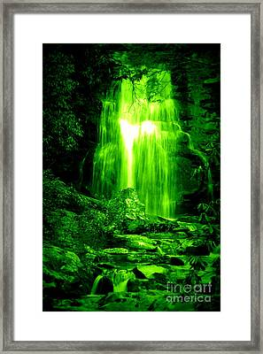 Green Waterfall Framed Print