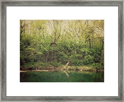Green Waters  Framed Print by Kiara Reynolds