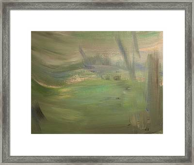 Green Wind Framed Print by Tanya Byrd