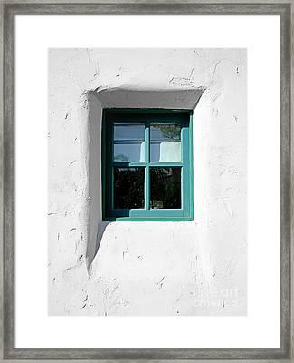 Green Window Framed Print by Kate McKenna