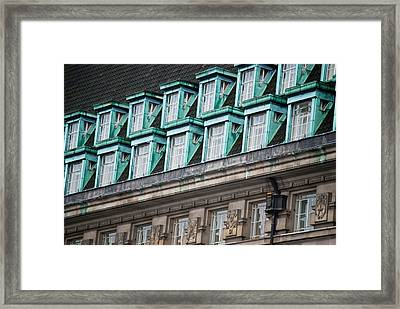 Green Windows Framed Print