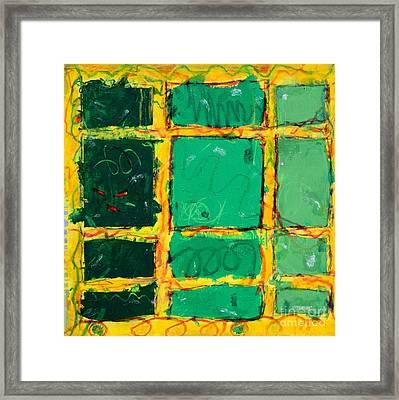 Green Windows Framed Print by Kelly Athena