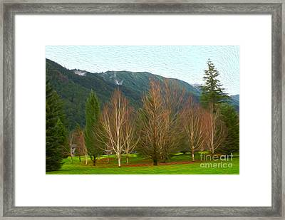 Green Winter Framed Print by Nur Roy