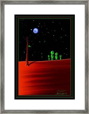 Green With Envy - Scratch Art Series - #5 Framed Print by Steven Lebron Langston