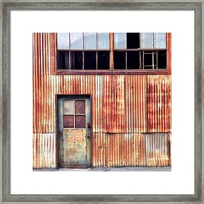 Green With Rust Framed Print