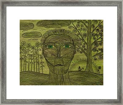 Green World Framed Print by Sean Mitchell