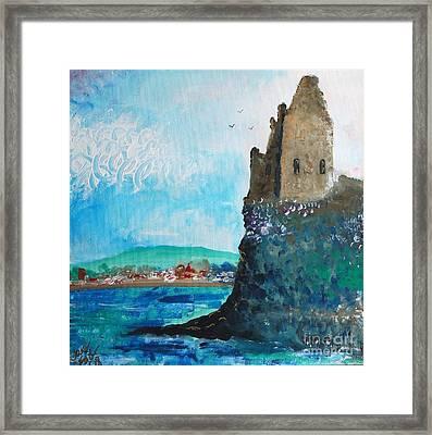 Greenan Castle Sctland Framed Print by Janet Fraser Mckinlay