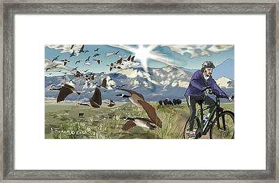 Greenbelt Plateau Boulder Co Framed Print