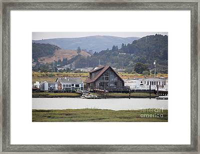 Greenbrae California Boathouses At The Base Of Mount Tamalpais 5d29347 Framed Print