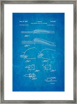 Greene Flight Stall Warning Device Patent Art 1949 Blueprint Framed Print