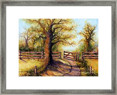 Greener Pastures Framed Print by Janine Riley
