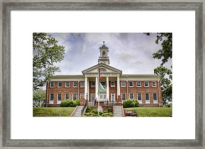 Greeneville Town Hall Framed Print by Heather Applegate