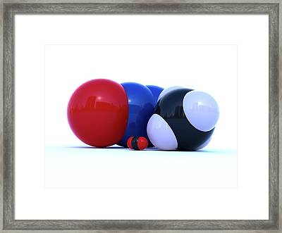 Greenhouse Gas Molecules Framed Print by Indigo Molecular Images