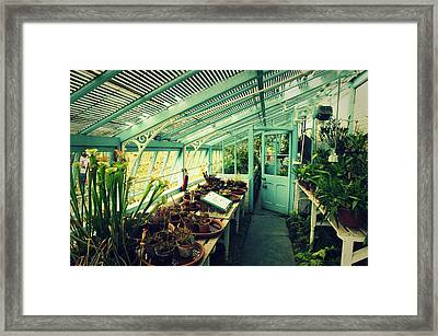 Greenhouse Of Charles Darwin Framed Print by Chevy Fleet