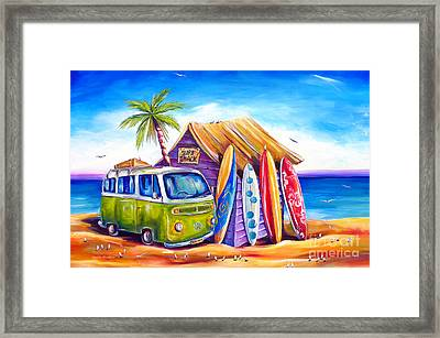 Greenie Framed Print