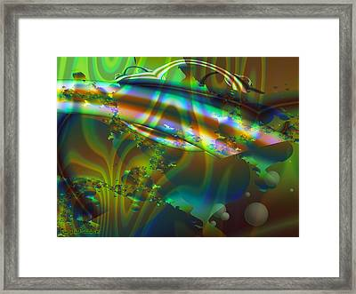 Greenish Melancholy Cocktail. 2013 80/60 Cm.  Framed Print by Tautvydas Davainis