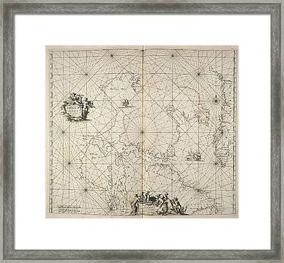 Greenland And Canada Framed Print by British Library