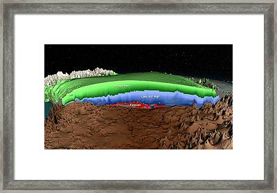 Greenland Ice Sheet Stratigraphy Framed Print by Nasa/scientific Visualization Studio