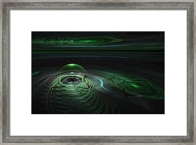 Framed Print featuring the digital art Greenland Outpost by GJ Blackman