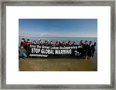 Greenpeace Campaigners Framed Print
